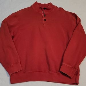 Roundtree & Yorke Casuals orange red pullover